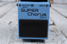 Load image into Gallery viewer, Boss CH-1 Stereo Super Chorus Electric Guitar Effects Pedal with FREE Cables