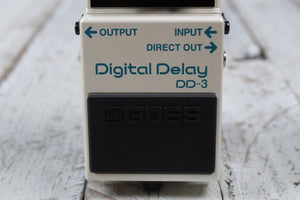 Boss DD-3 Digital Delay Electric Guitar Effects Pedal with Three FREE Cables