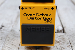 Boss OS-2 Overdrive Distortion Electric Guitar Effects Pedal w Three FREE Cables