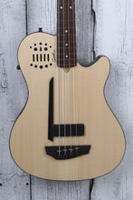 Load image into Gallery viewer, Godin A4 Ultra SA Fretted Semi Acoustic 4 String Bass Guitar Natural w Gig Bag