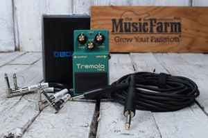 Boss TR-2 Electric Guitar Effects Pedal Classic Tremolo Effects with FREE Cables