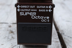 Boss OC-3 Dual Super Octave Electric or Bass Guitar Effects Pedal w FREE Cables
