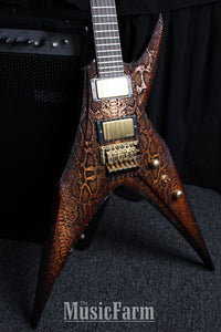 DBZ Bird of Prey Laser Etched Crocskin Custom USA Guitar One of A Kind with case