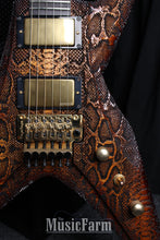 Load image into Gallery viewer, DBZ Bird of Prey Laser Etched Crocskin Custom USA Guitar One of A Kind with case