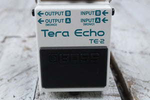 Boss TE-2 Tera Echo Delay Reverb Electric Guitar Effects Pedal with FREE Cables