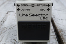 Load image into Gallery viewer, Boss LS-2 Line Selector Electric Guitar Effects Pedal A B Switcher w FREE Cables