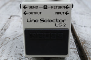 Boss LS-2 Line Selector Electric Guitar Effects Pedal A B Switcher w FREE Cables