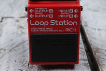 Load image into Gallery viewer, Boss RC-1 Loop Station Electric Guitar Effects Pedal Looper with FREE Cables