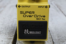 Load image into Gallery viewer, Boss SD-1W Super Overdrive Waza Electric Guitar Effects Pedal with FREE Cables