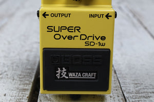 Boss SD-1W Super Overdrive Waza Electric Guitar Effects Pedal with FREE Cables