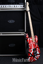 Load image into Gallery viewer, Charvel EVH Art Series Black Red White Stripe Guitar Made in USA