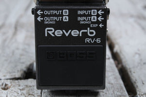 Boss RV-6 Digital Reverb Electric Guitar Effects Pedal with Three FREE Cables