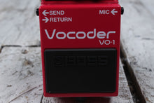 Load image into Gallery viewer, Boss VO-1 Vocoder Electric Guitar and Bass Guitar Effects Pedal with FREE Cables