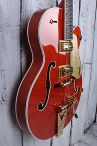 Gretsch G6120T Nash Hollowbody w/Bigsby and Hardshell - Orange