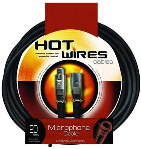 Hot Wires Microphone Cable - 20Ft - XLR-XLR