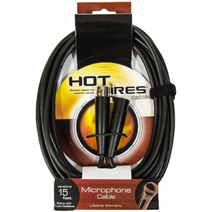 Hot Wires Microphone Cable - 15Ft - XLR-XLR