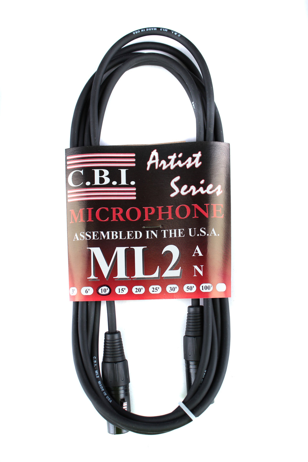 CBI Artist Series XLR to XLR Microphone Cable 10'