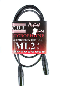 CBI Artist Series XLR to XLR Microphone Cable 6'