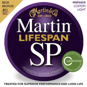 Martin SP Lifespan 80/20 Bronze Acoustic Guitar Strings Cust. Lt.