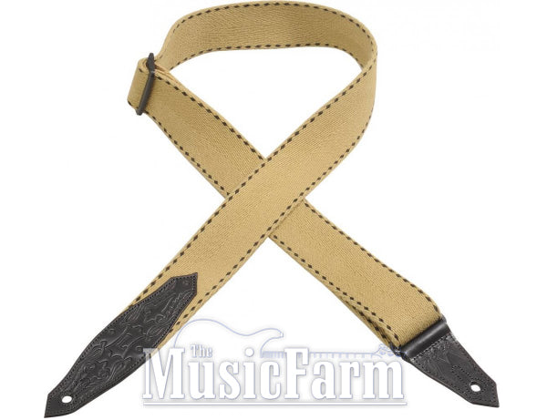 Levy's 2 Tan Heavy-Weight Cotton Guitar Strap