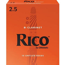 Load image into Gallery viewer, RICO B FLAT CLARINET 2 1/2 REED - Single Reed