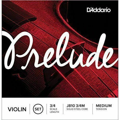 D'ADDARIO PRELUDE VIOLIN STRINGS - 3/4 MEDIUM TENSION