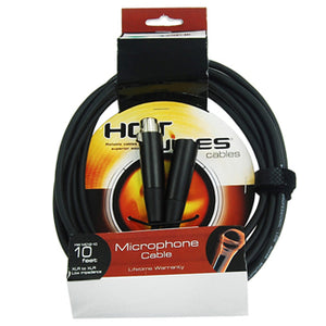Hot Wires Microphone Cable - 10Ft - XLR-XLR