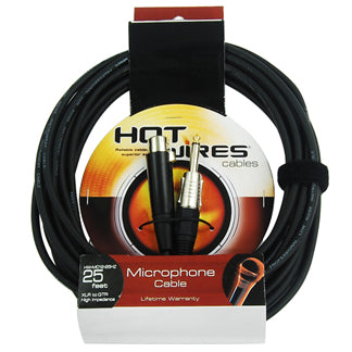 Hot Wires Microphone Cable - 25Ft - XLR-XLR