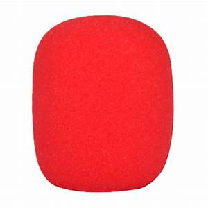 On Stage ASWS58-R Foam Microphone Windscreen - Red