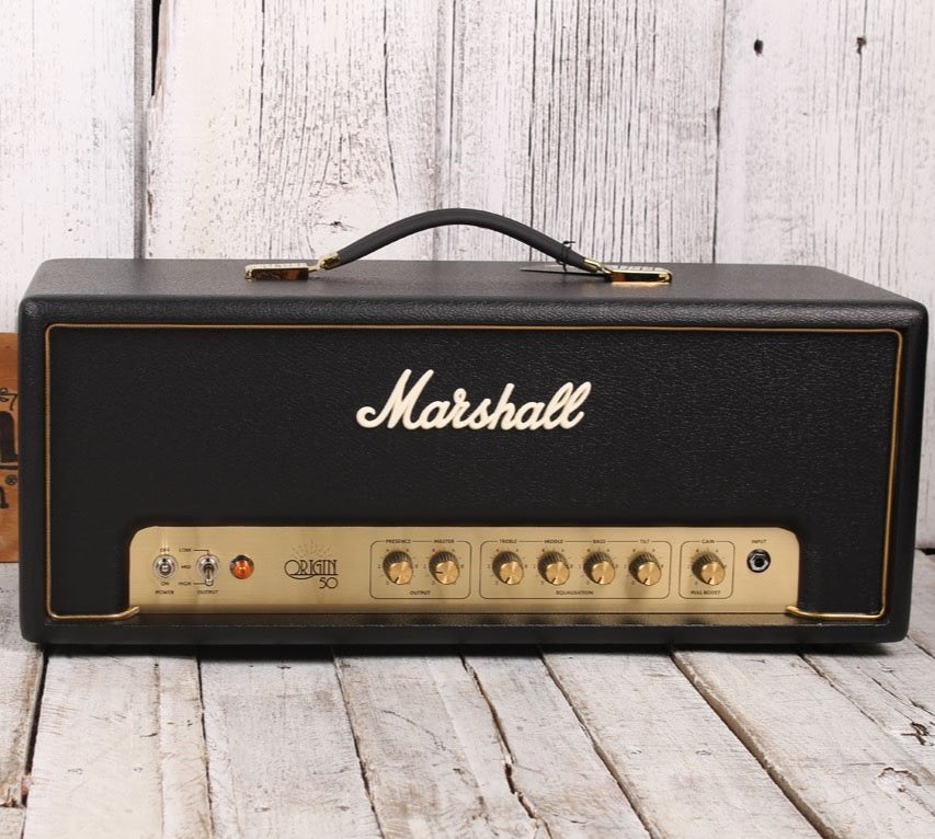 Marshall ORIGIN50H Origin 50 Watt Electric Guitar Amplifier Head with Footswitch