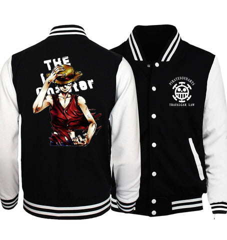 One Piece Monkey D. Luffy Letterman Jacket