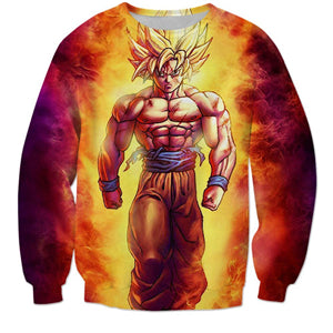 Dragon Ball Z Super Saiyan Goku Crewneck