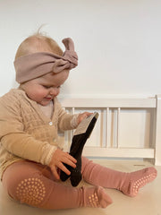 GoBabyGo crawling tights in dusty rose