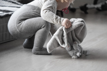 GoBabyGo Crawling tights in grey melange