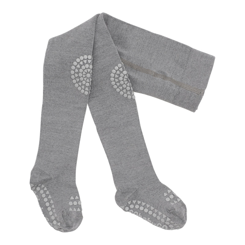 Wool crawling tights - Grey Melange