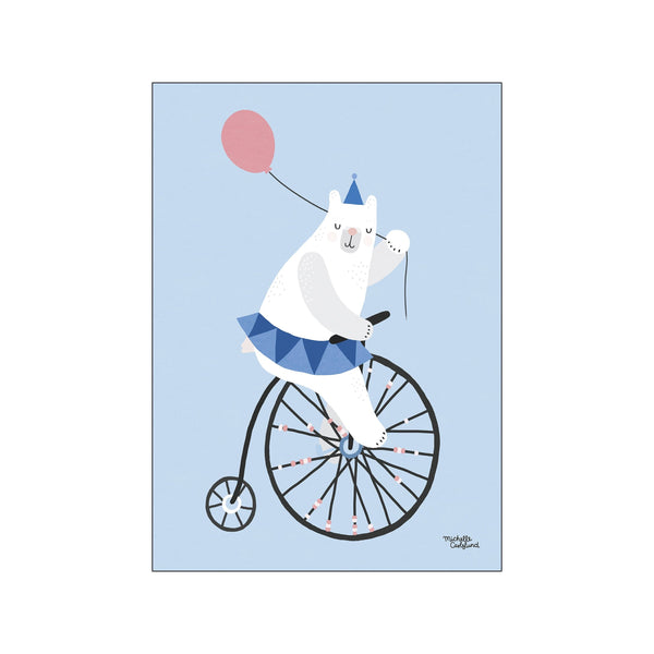 Cycling bear - blue