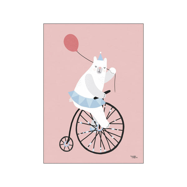 Cycling bear - pink