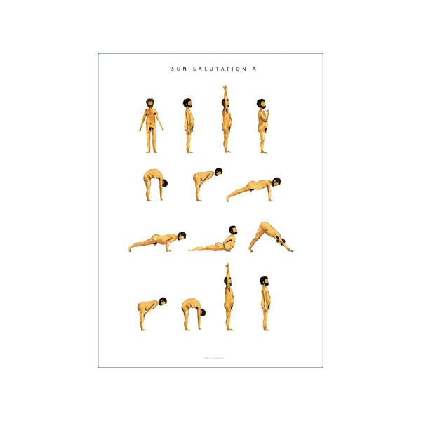 Sun Salutation A Man Golden