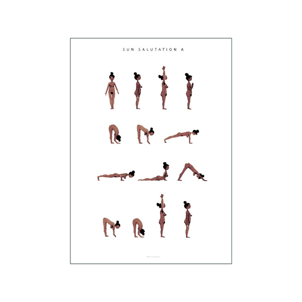 Sun Salutation A Woman  Brown