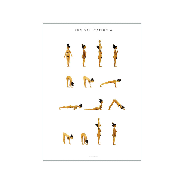 Sun Salutation A Woman  Golden