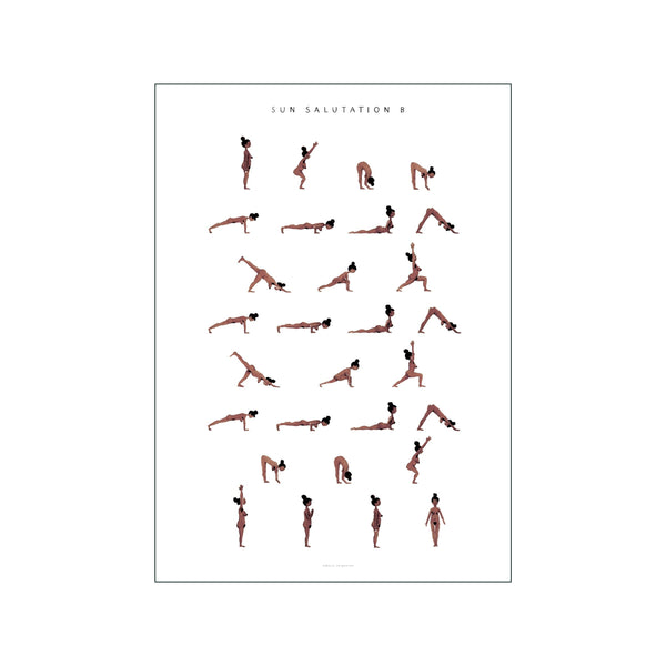 Sun Salutation B Woman Brown