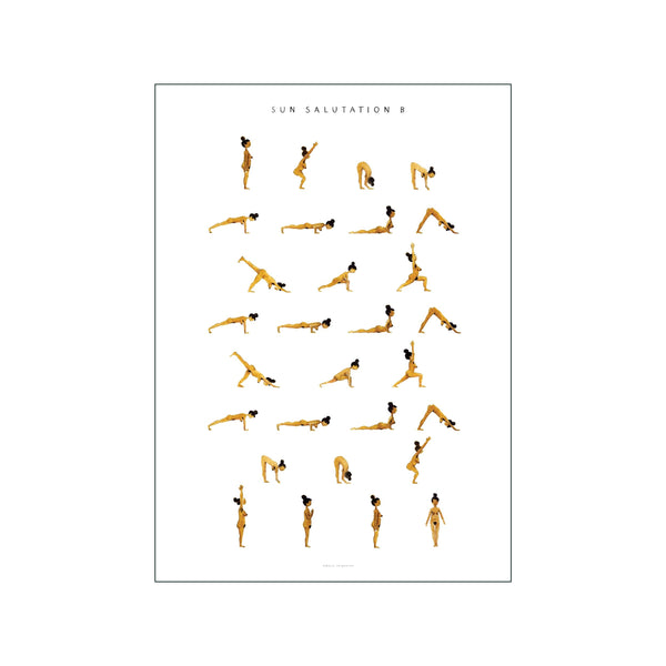 Sun Salutation B Woman Golden
