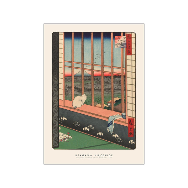 Utagawa Hiroshige - Cat sitting in window