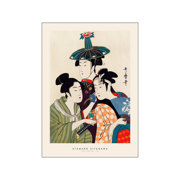Utamaro Kitagawa - Three young women
