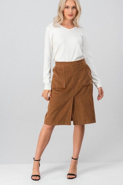 On The Same A-Cord Skirt