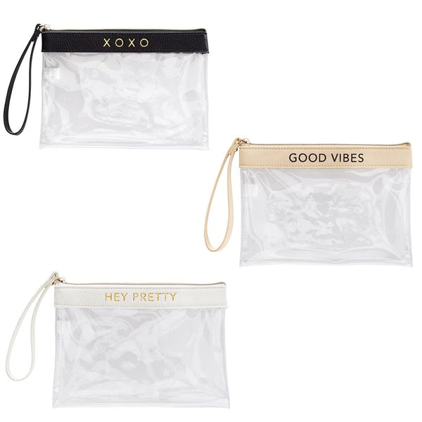 Perfect Little Clear Wristlet