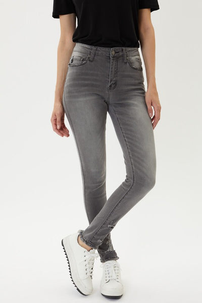 KanCan Grey High Rise Skinny Jeans