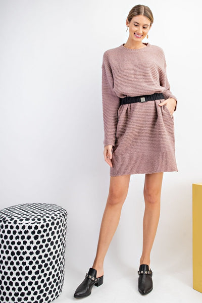 Talk All Night Sweater Tunic Dress