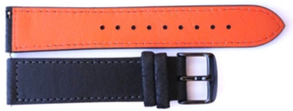 Orange leather strap