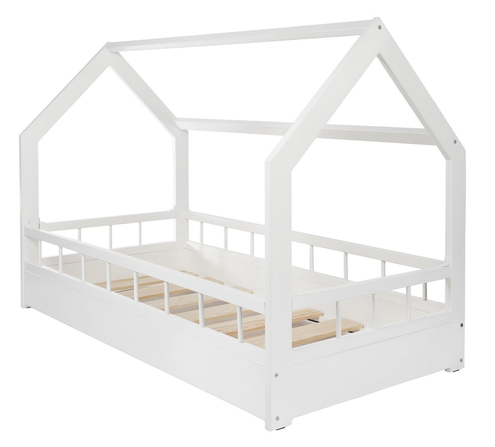 House bed with rails